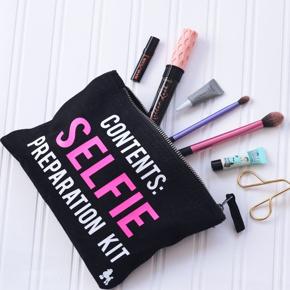 selfie preparation kit make up bag black makeup bag makeup