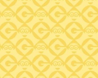 1 in a Minion by Quilting Treasures / Yellow - 23995-S / Fat Quarter / 1 Yard Cut  / 1/2 Yard Cuts