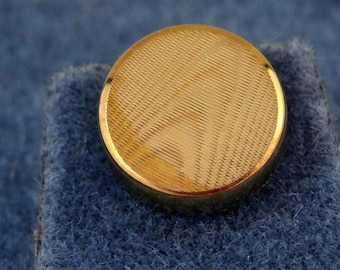 "Simple Vintage NOS Tie Tack Pin in Box Round Gold Tone 3/8"" d"