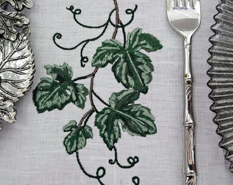 Grape Leaf Machine Embroidery Design