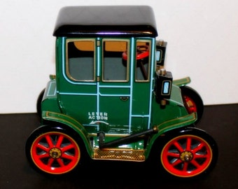 1950's Tin Lizzy Lever Car - Oldtimers #2 Lever/Clockwork Drive Car - Modern Toys Trade Mark - Made In Japan - Masudaya Toys