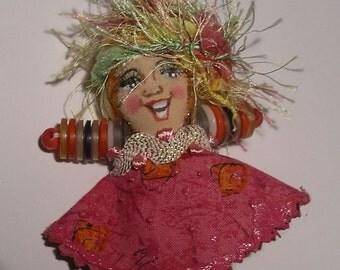 Cute little Doll Brooch