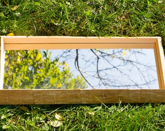 Ash wood frame with mirror - handmade