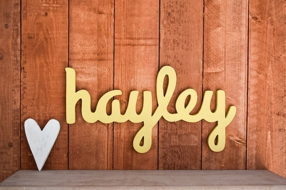 Hayley Baby Name Wooden Sign Nursery Decor By Lucysletters123