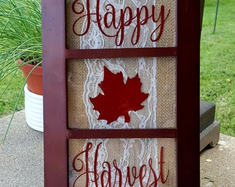 Happy Harvest 3 Frame Picture Fall Decor