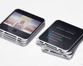 iPhone Business Cards - Unique Mini Cards - Technology - Design and Printing - 250, 500, 1000, 2500 | FREE Shipping |