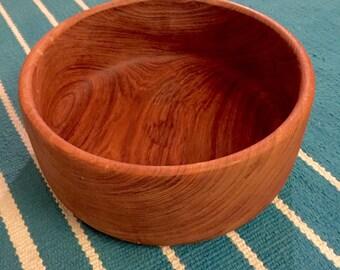 Large Vintage Dansk Wooden Midcentury Teak Serving Bowl