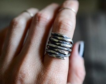 The Cage | Sterling Silver statement ring