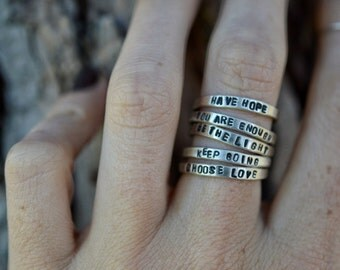 Affirmation Stacking Rings• Made to Order