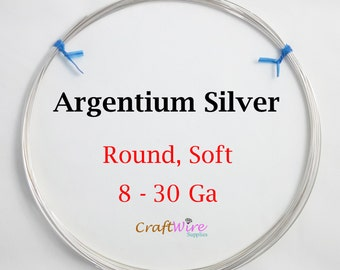 935 Argentium Silver Wire, Round, Dead Soft, 8 10 12 14 16 18 19 20 21 22 24 26 28 30 Gauge, Jewelry Making Wire, Tarnish Resistant