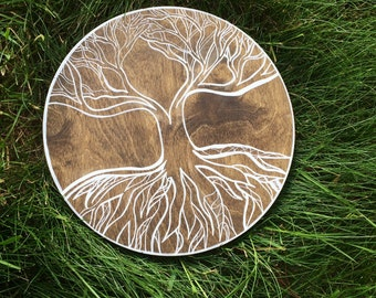 Tree of Life Wood Sign