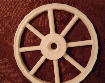 "Round spoke wagon wheels 3"" High/wide  -SET of TWO"