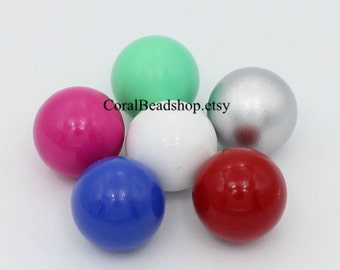 x0278- Mixed Color 6pcs 16mm Round Chime Ball, Harmony Ball, Mexican Musical Bola Ball, Angel Caller Balls for Pregnancy Mom
