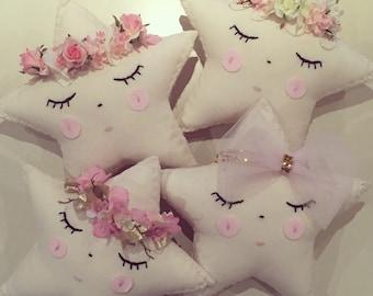 Handmade little crowned star cushions x