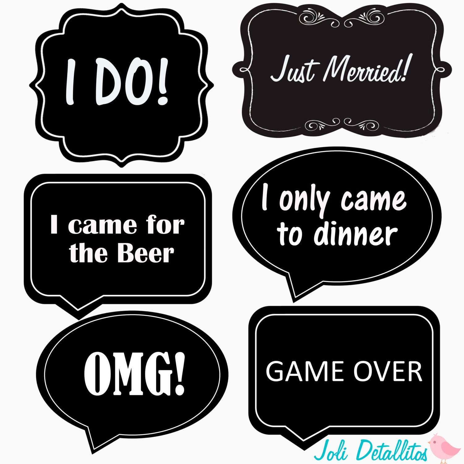 wedding props word bubble photo props printable diy