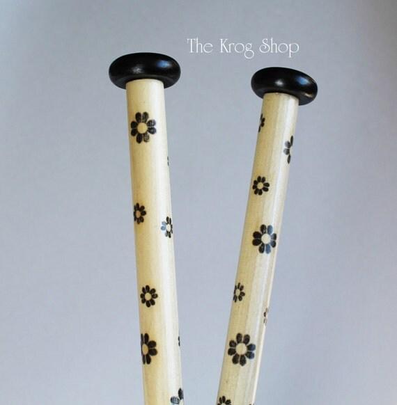 Jumbo Wooden Knitting Needles - US35/US50 14 Black Daisy Natural ...