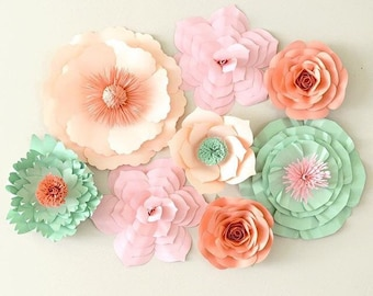 Paper Flower Backdrop, Paper Flower Centerpiece, Large Paper Flowers