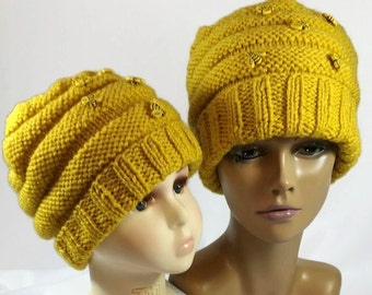 Mommy and Me Beehive Hats - Mother's Day Gift - Bumblebee Hat - Bumble Bee Beanie - Bee Baby Hat - Bee Beanie - Cool Beanies - Baby Girl Hat