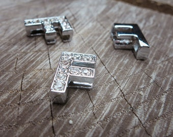Letter F Slot Charms ~1 pieces #100620