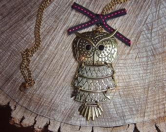 Owl Necklace ~1 pieces #100397
