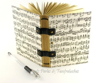 Travel book for man, Christmas gift, paper quality kraft, Coptic binding, for him, notebook