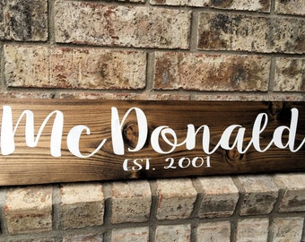 Personalized Sign | Family Name Sign | Custom Name Sign | Last name sign | Family Name Established Sign | personalized wedding gifts