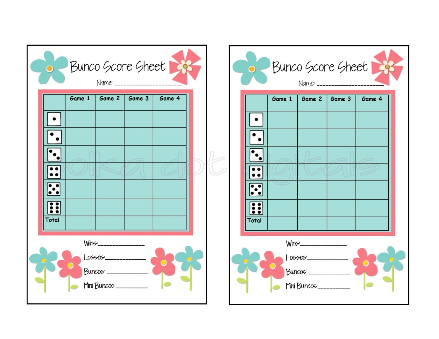 photo about Cute Bunco Score Sheets Printable named 100+ Bunco Scoresheet yasminroohi