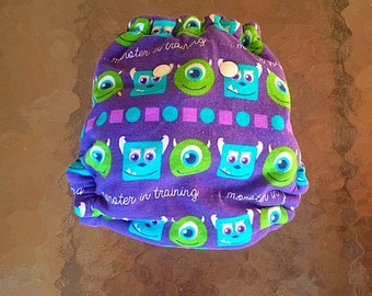 NB cloth diaper, Monsters diaper, Monsters Inc