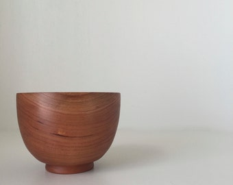 hand crafted wooden bowl from cherry