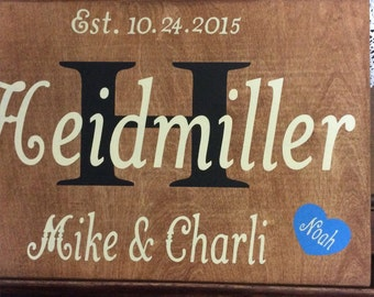Custom signs, personalized sign, wedding sign, family sign,