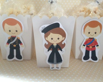 The Royal Family, London, England, United Kingdom, British Party Pocorn of Favor Boxes - Set of 10