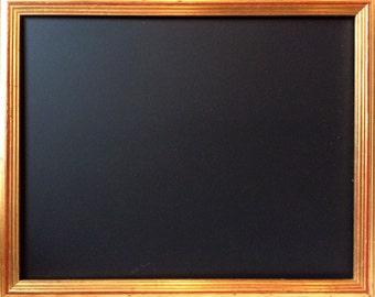 Vintage gold-red framed chalkboard.