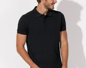 POLO 100% Organic cotton  short sleeve Black