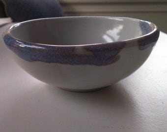 Handmade Small Bowl in periwinkle and lavendar glaze