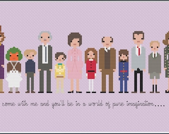 8-Bit Wonder - Willy Wonka and the Chocolate Factory PDF Cross-Stitch Pattern