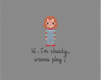 8-Bit Wonder - Chucky PDF Cross-Stitch Pattern