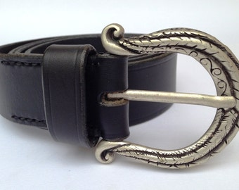 Leather belt black//belt//belt//black leather belt