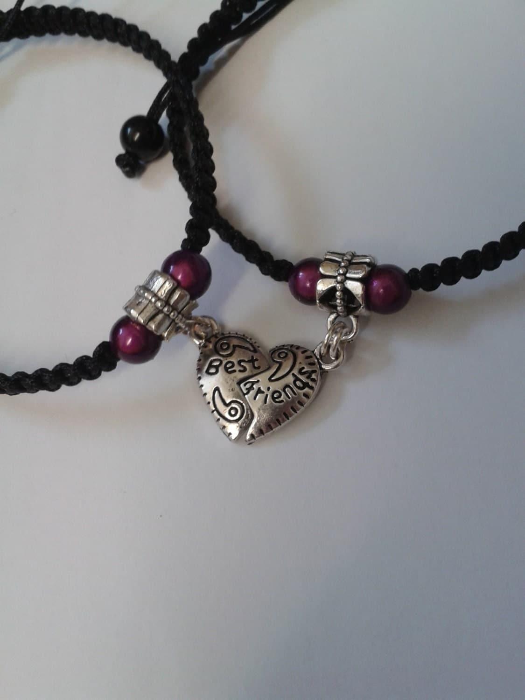 best friend bracelets best friend charms best by katsmakes