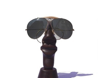 ON SALE Wood sculpture Nose glasses holder Mother day gift idea