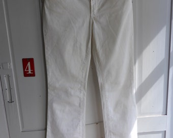 Vintage Dolce & Gabbana white cotton stretch bootcut jeans size 29 UK 12