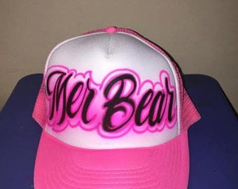 Airbrushed Name design trucker hat