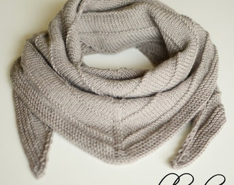 Knitted Wool Scarf, Knit Kids Scarf, Warm Baby Triangle Scarf, Toddler Knit Scarf, Children Hand Knitted Winter Scarf, Kids Scarflette