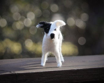 Dog needle felted handmade wool dog