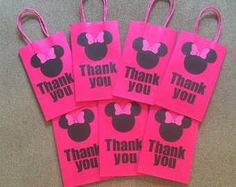 Minnie Mouse Thank You bags