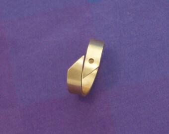 Simple Asymmetric Bronze Ring