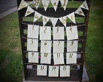Wedding Table Seating Chart.  Rustic Table Seating Chart. Wedding Seating Chart.  Wedding Guest Lists Sign.  Rustic Wedding Signs.