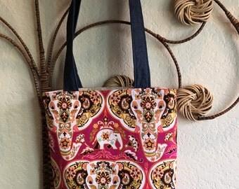 Beautiful Elephant Handbag, Tote, Handmade Purse
