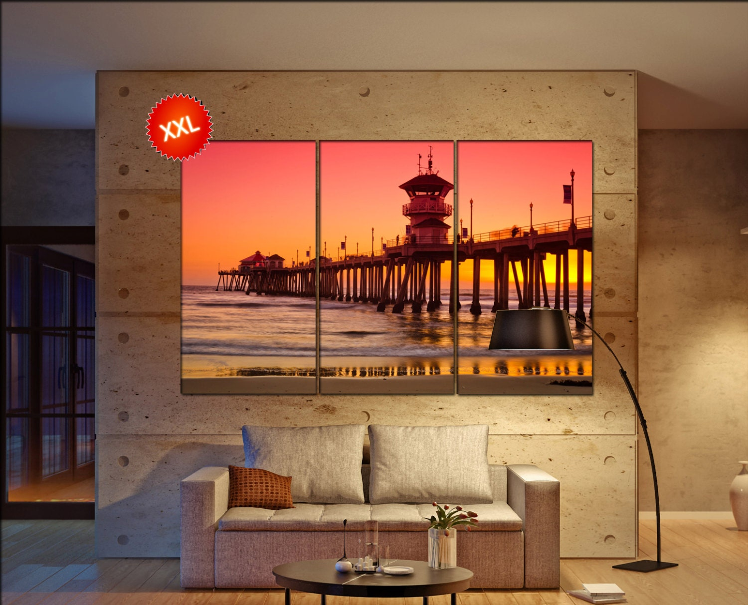 Huntington Beach Wall Decor : Huntington beach pier wall decor art