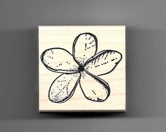 Plumeria flower rubber stamp