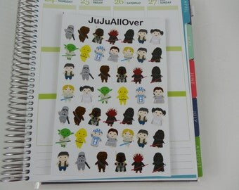46 SMALL Star Characters Stickers
